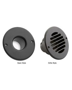 Black Aluminum Open & Grille Outlets