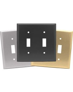 Double Toggle Switch Plates