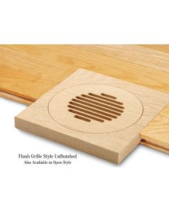 Red Oak Unfinished Flush Mount Grille Outlet